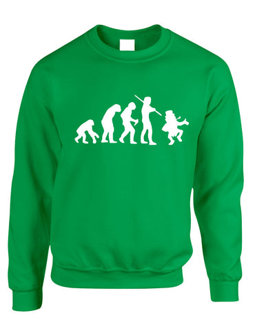 Adult Sweatshirt Irish Evolution Leprechaun St Patrick's Top - ALLNTRENDSHOP - 1