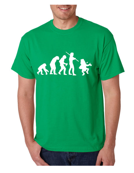Men's T Shirt Irish Evolution Leprechaun St Patrick's Day Shirt - ALLNTRENDSHOP - 1