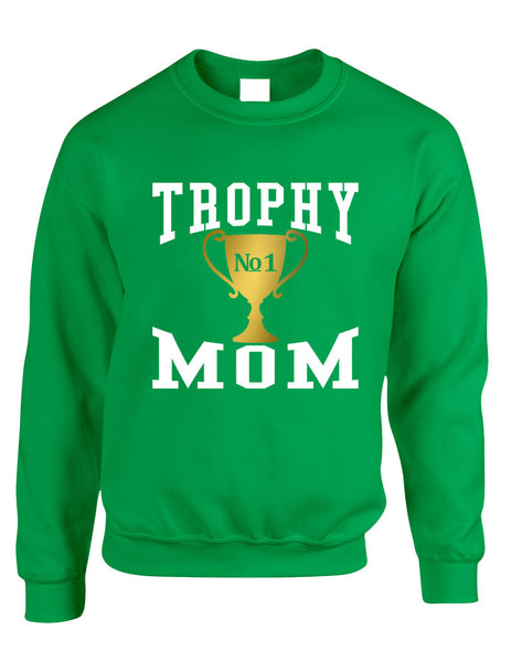 Adult Sweatshirt Trophy Mom Gift Love Mother's Day Sweatshirt - ALLNTRENDSHOP - 4