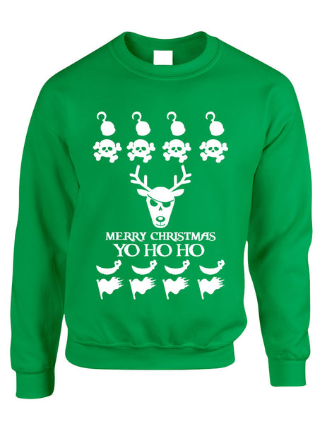 Adult Crewneck Yo Ho Ho Cool Ugly Christmas Sweater Holiday Gift - ALLNTRENDSHOP - 2