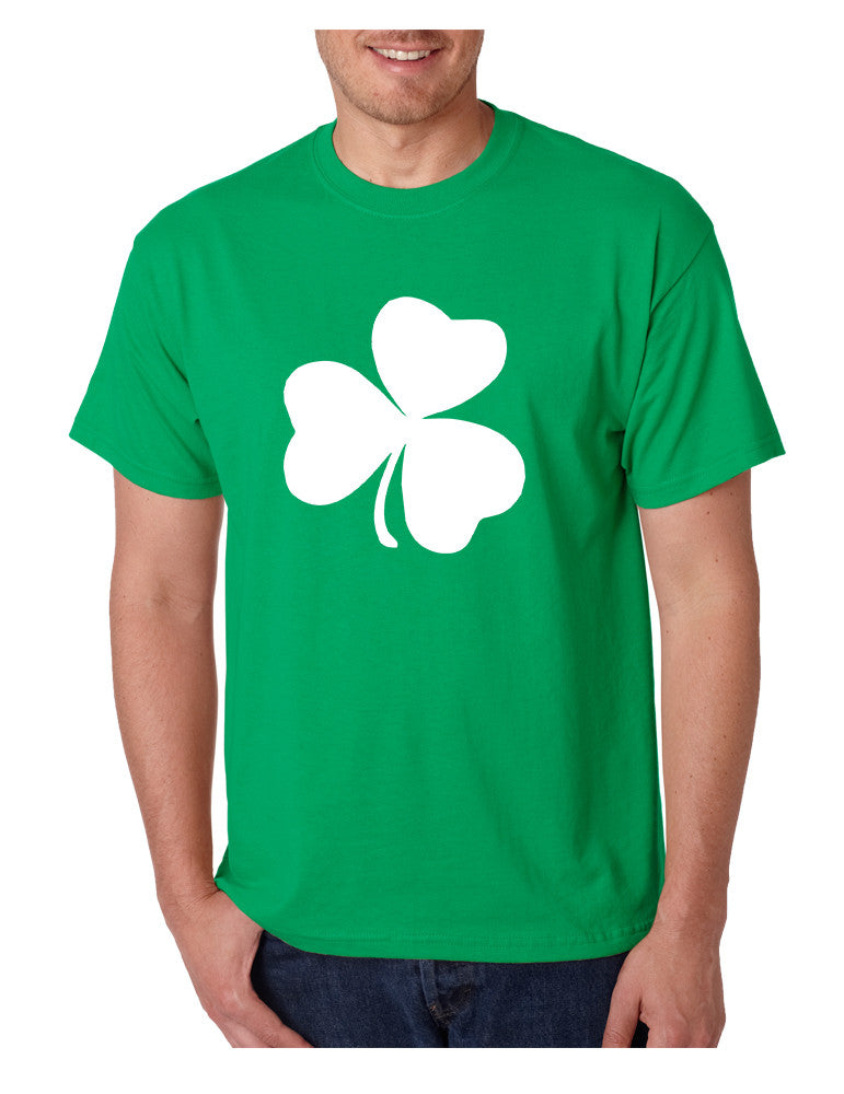 Men's T Shirt White Shamrock Graphic St Patrick's Day Party Tee - ALLNTRENDSHOP - 1