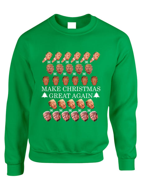 Adult Sweatshirt Make Christmas Great Again Love Trump Ugly Xmas - ALLNTRENDSHOP - 3