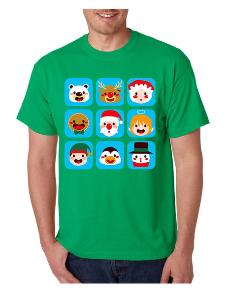 Men's T Shirt Christmas Icons Cool Ugly Xmas Symbols Shirt - ALLNTRENDSHOP - 3