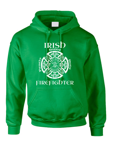 Adult Hoodie Irish Firefighter St Patrick's Top Love Irish Party - ALLNTRENDSHOP - 1