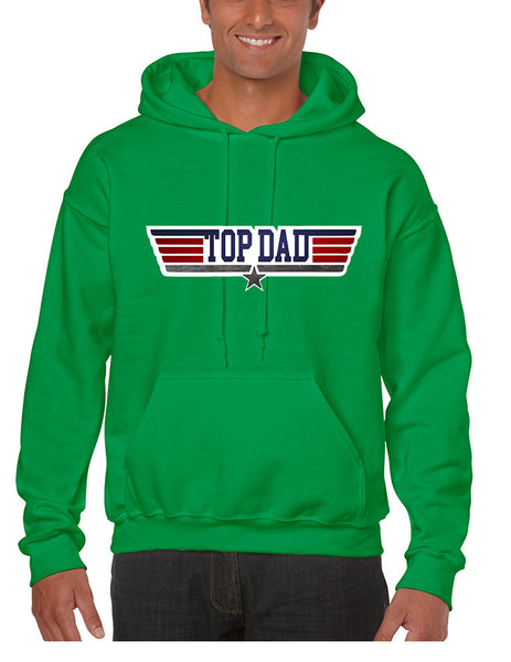 Men's Hoodie Top Dad Guns Father's Day Shirt Love Dad Gift