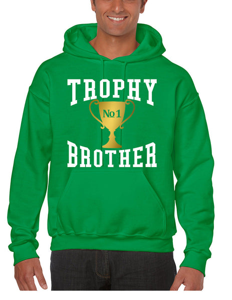 Men's Hoodie Trophy Brother Love Family Gift Cool Graphic Top - ALLNTRENDSHOP - 2
