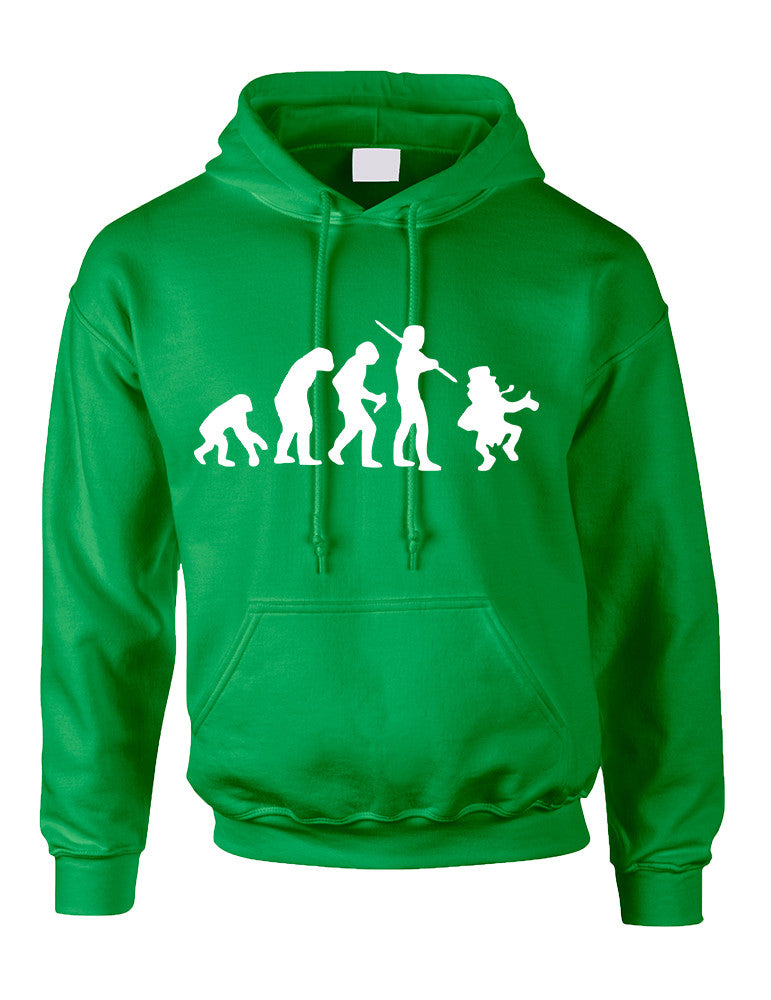 Adult Hoodie Irish Evolution Leprechaun St Patrick's Day Top - ALLNTRENDSHOP - 1