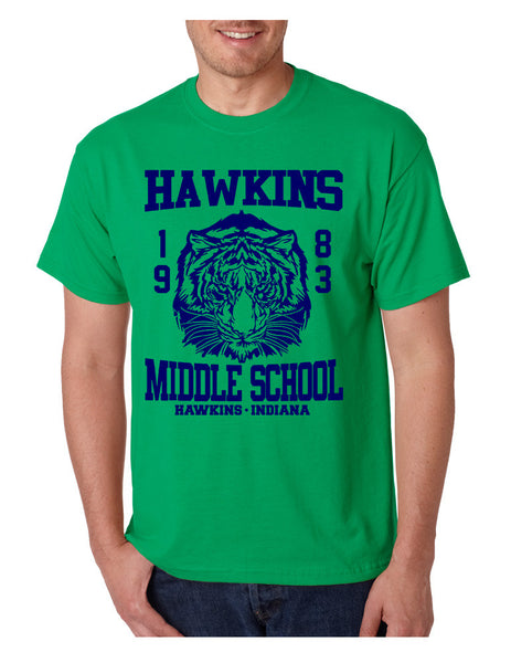 Men's T Shirt Hawkins Middle School 1983 - ALLNTRENDSHOP - 4