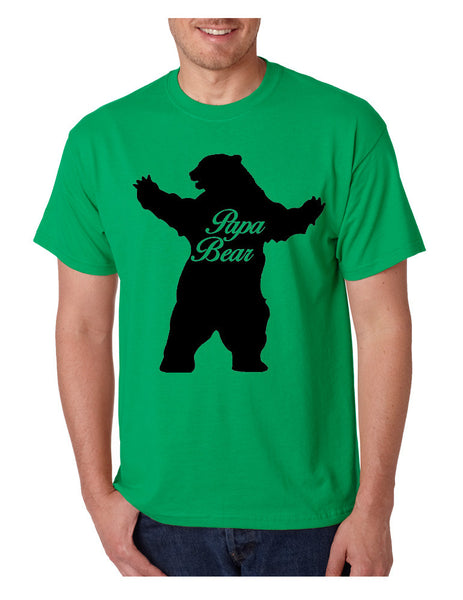 Men's T Shirt Papa Bear Family Shirt For Dad Xmas Cute Gift - ALLNTRENDSHOP - 4