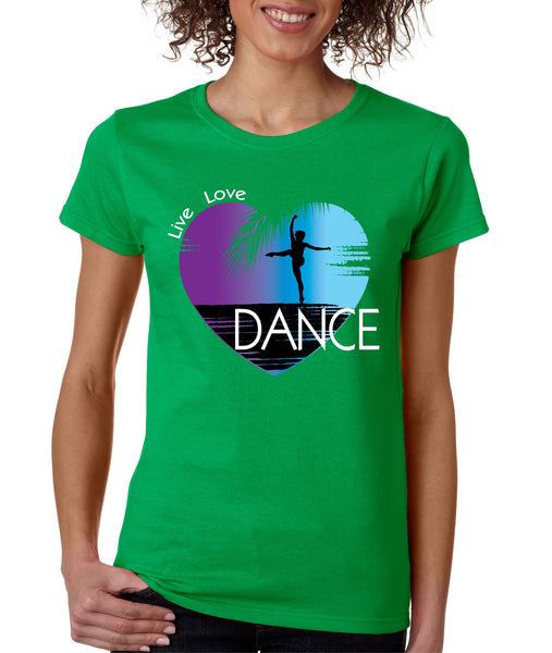 Women's T Shirt Dance Art Purple Print Love Cute Gift Nice Tee - ALLNTRENDSHOP - 3