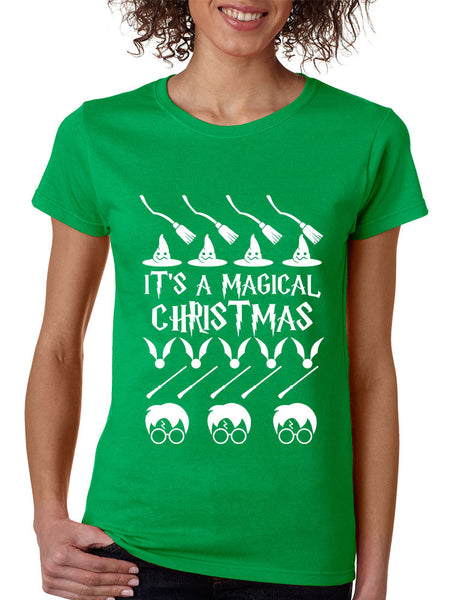 Women's T Shirt It's A Magical Christmas Ugly Christmas Sweater - ALLNTRENDSHOP - 1