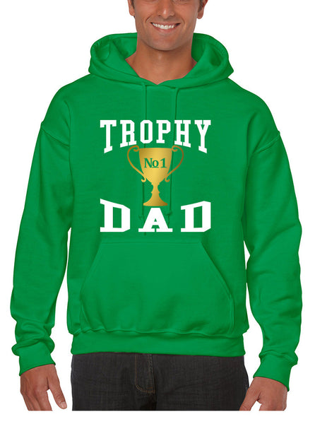 Men's Hoodie Trophy Dad Love Father Shirt Daddy Cool Gift - ALLNTRENDSHOP - 2