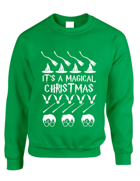 Adult Crewneck It's A Magical Christmas Ugly Sweater Cool Gift - ALLNTRENDSHOP - 1