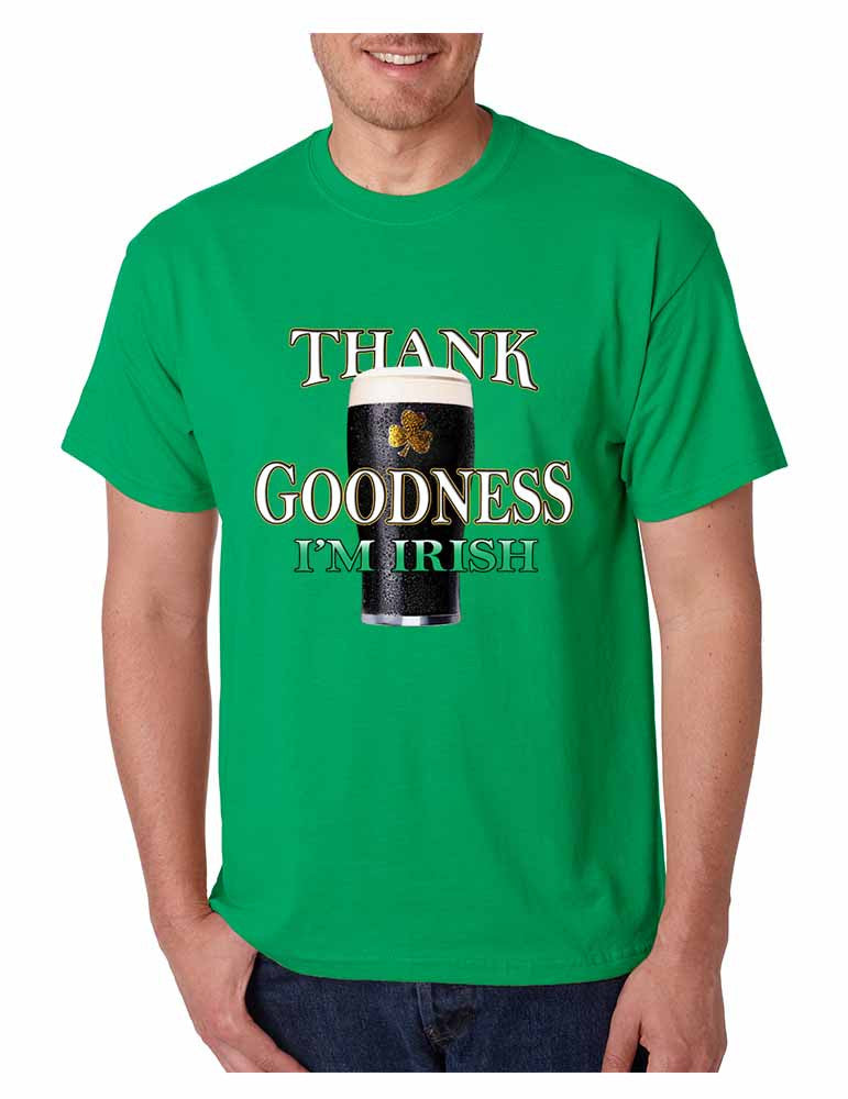 Thank Goodness Im Irish Men t-shirt - ALLNTRENDSHOP - 1
