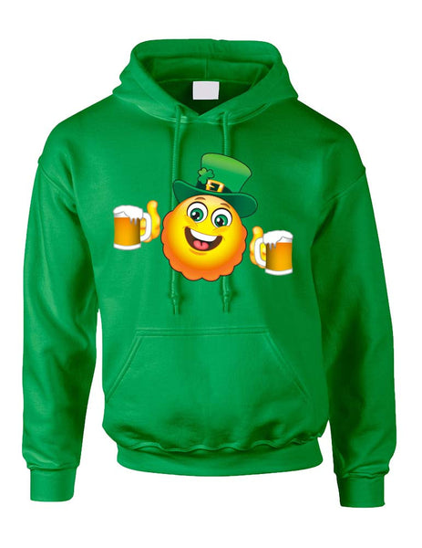 Irish smiling Emoji ST patricks women hooded sweatshirt - ALLNTRENDSHOP - 2
