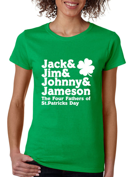 The four fathers of st patricks day women T-shirt - ALLNTRENDSHOP - 2