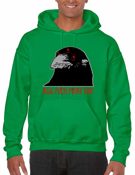 Three-eyed Crow All men must die men hooded sweatshirt - ALLNTRENDSHOP - 4