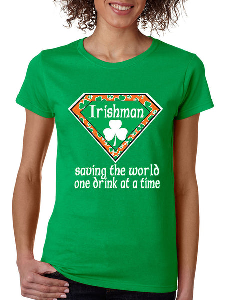 irishman saving the world st patricks women t-shirt - ALLNTRENDSHOP - 2