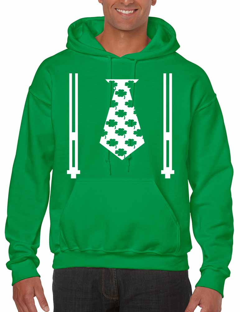Irish shamrock tie Men hoodie saint patricks day - ALLNTRENDSHOP - 1