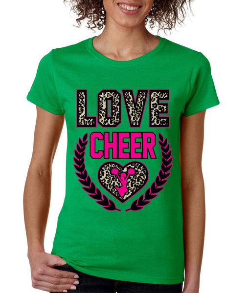Love Cheer Leopard womens T-Shirts - ALLNTRENDSHOP - 5
