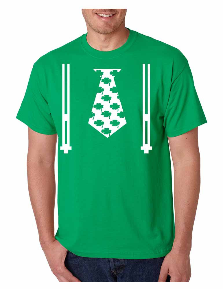 Irish shamrock tie Men t-shirt saint patricks day - ALLNTRENDSHOP - 1