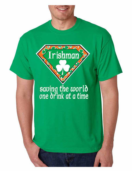 Irishman saving the world st patricks men t-shirt - ALLNTRENDSHOP - 3