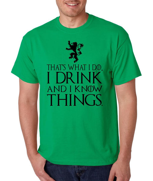 That What I Do I Drink And I Know Things mens t-shirt - ALLNTRENDSHOP - 3