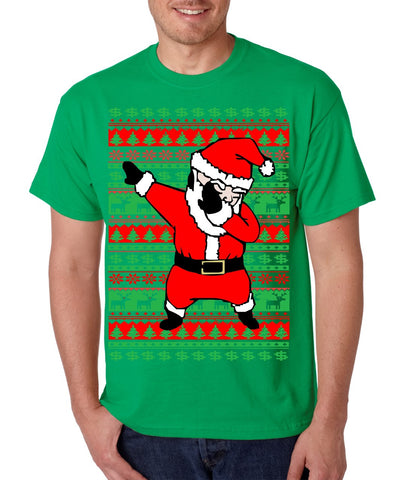 Dabbing santa ugly christmas sweater men T-shirt - ALLNTRENDSHOP