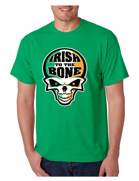 Irish To The Bone Skull Men T-shirt St Patrik - ALLNTRENDSHOP - 1