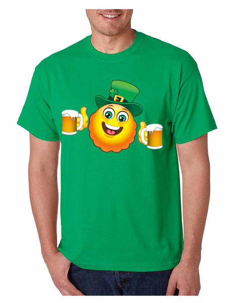 Irish smiling Emoji ST patricks men t-shirt - ALLNTRENDSHOP - 3