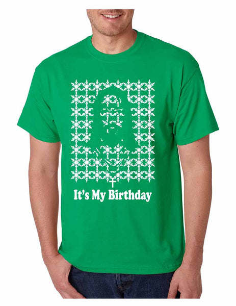 Its my birthday Jesus Mens T-shirt - ALLNTRENDSHOP - 3