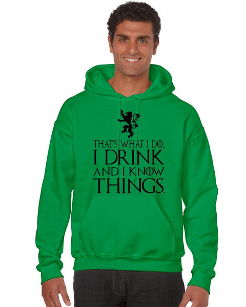 That What I Do I Drink And I Know Things men Hoodie - ALLNTRENDSHOP - 2