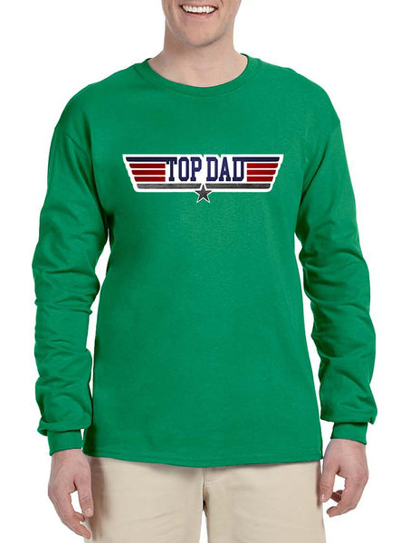 Men's Long Sleeve Top Dad Guns Father's Day Shirt Love Dad Gift