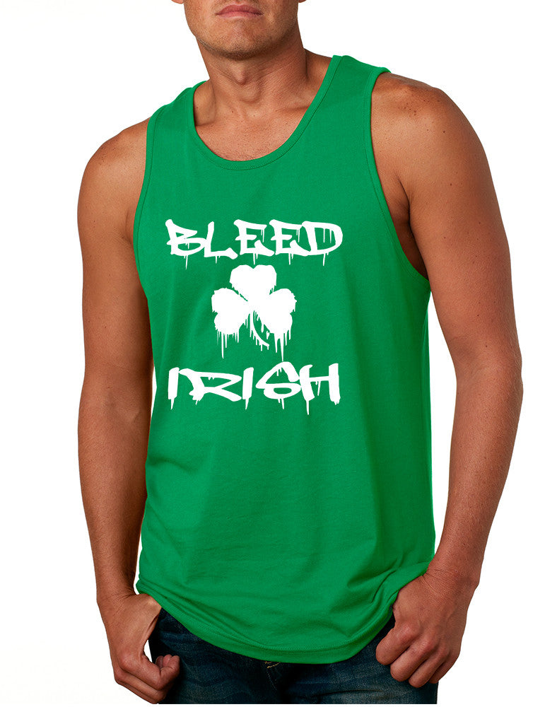 Men's Tank Top Bleed Irish St Patrick's Party Top Love Irish - ALLNTRENDSHOP - 1