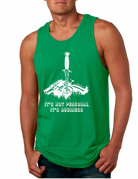 Men's Tank Top It's Not Personal It's Business Humor Funny Top - ALLNTRENDSHOP - 2