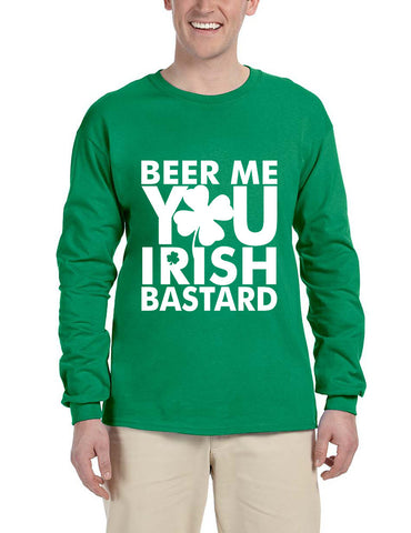 Men's Long Sleeve Beer Me You Irish St Patrick's Day Drunk