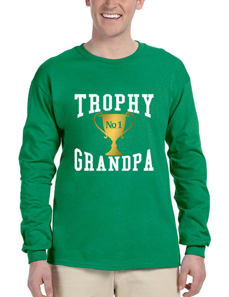 Men's Long Sleeve Trophy Grandpa Cool Xmas Love Family Gift Top - ALLNTRENDSHOP - 3
