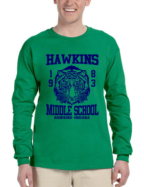 Men's Long Sleeve Hawkins Middle School 1983 Tigers - ALLNTRENDSHOP - 2