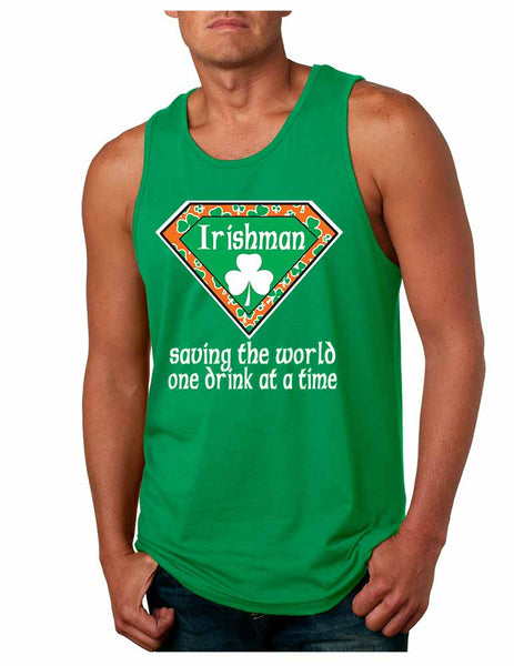 Irishman saving the world st patricks Men jersey tank - ALLNTRENDSHOP - 2