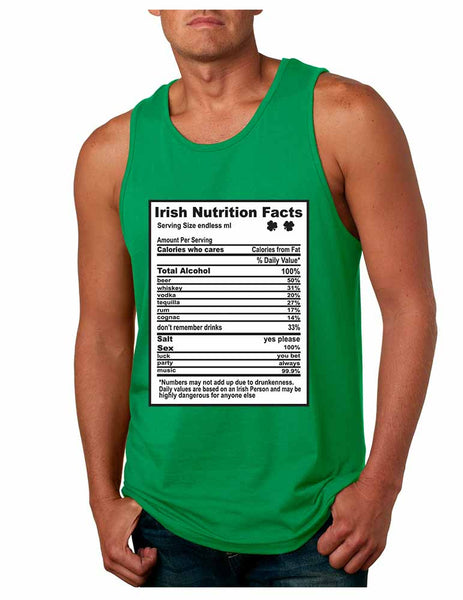 Irish nutrition facts St patrick men jersey tanktop - ALLNTRENDSHOP - 3