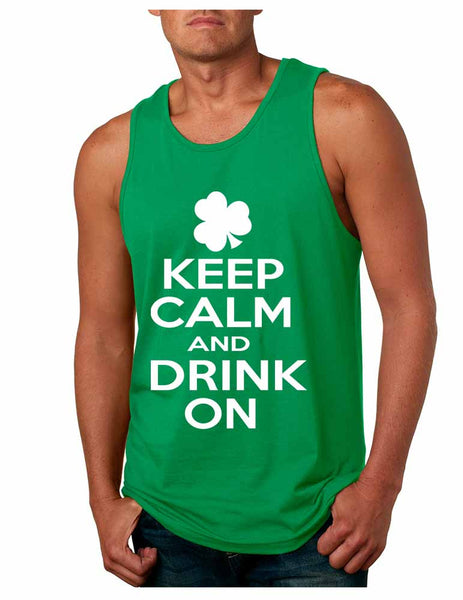 Keep calm and drink on men Jersey Tanktop saint patricks day - ALLNTRENDSHOP - 3