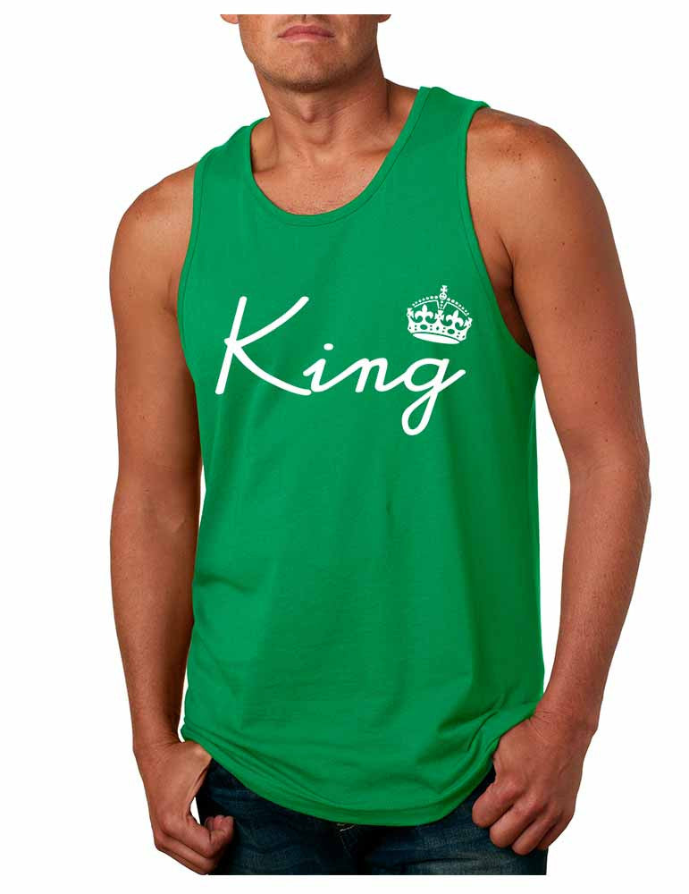 King with crown men jersey tank top - ALLNTRENDSHOP - 1