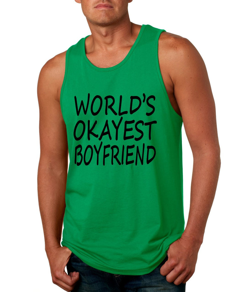 World's OKayest boyfriend men jersey tank top - ALLNTRENDSHOP - 1