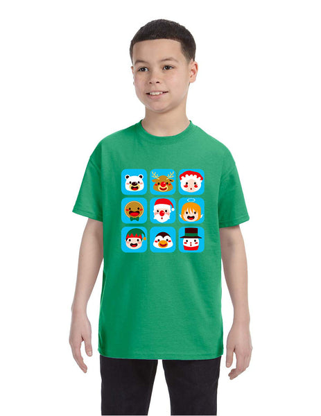 Kids T Shirt Christmas Icons Ugly Holiday Symbols T-Shirt - ALLNTRENDSHOP - 4