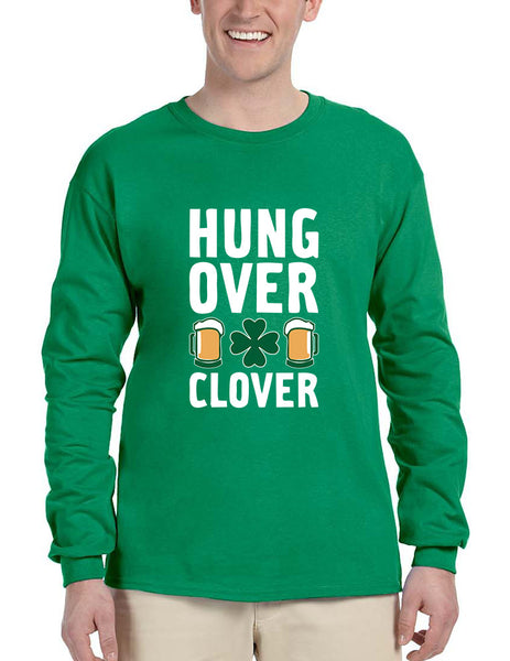 Men's Long Sleeve Hungover Clover St Patrick's Day Party Top