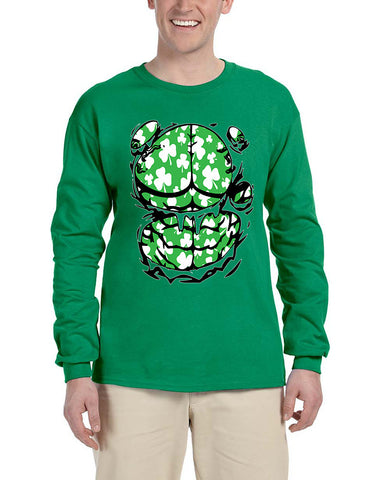 Men's Long Sleeve Irish Body Shamrock St Patrick's Day Tee