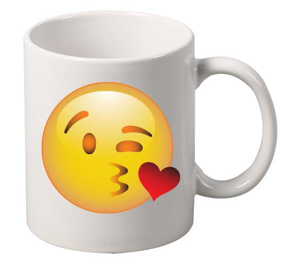 Kiss Face  emoticon Mug - ALLNTRENDSHOP