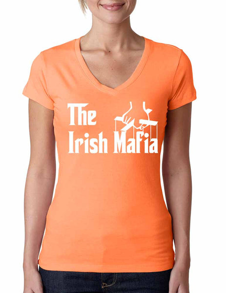 The Irish mafia Women sporty V Shirt saint patricks day - ALLNTRENDSHOP - 1