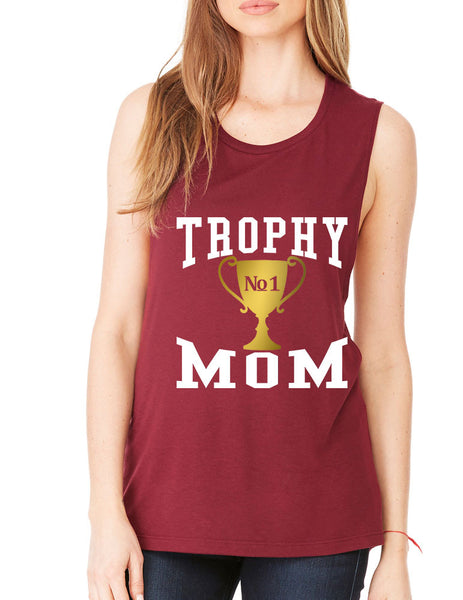 Women's Flowy Muscle Top Trophy Mom Gift Love Mother's Day Top - ALLNTRENDSHOP - 4