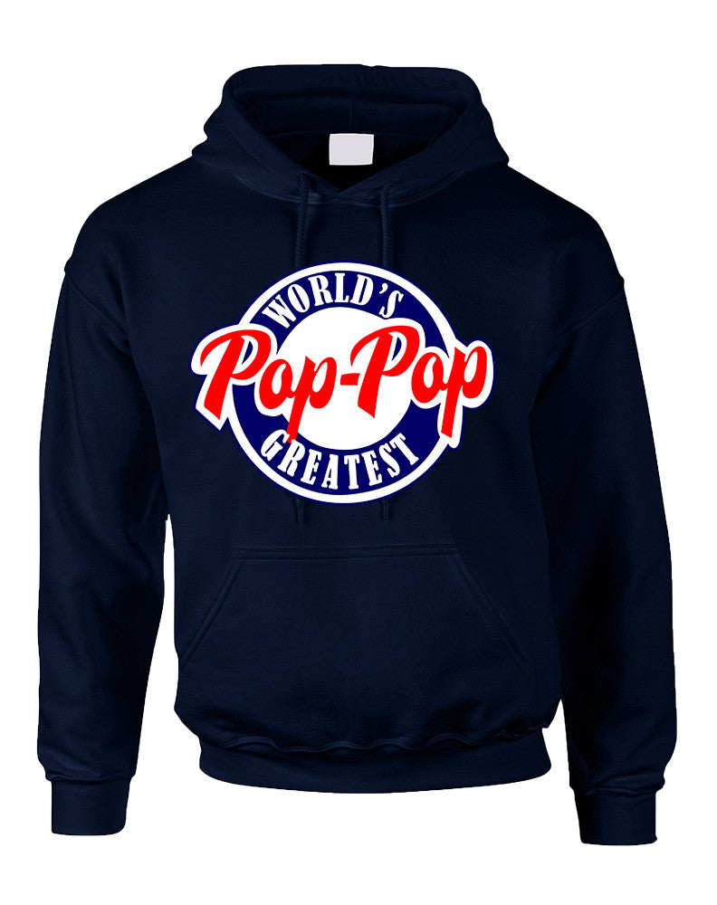 Men's Hoodie World's Greatest Pop Pop Love Family Top